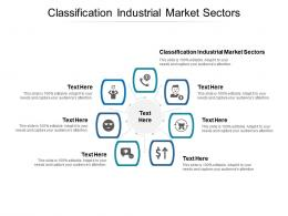 Classification Industrial Market Sectors Ppt Powerpoint Presentation Ideas Visuals Cpb