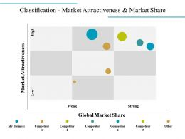 Classification Market Attractiveness And Market Share Powerpoint Show