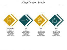 Classification Matrix Ppt Powerpoint Presentation Portfolio Slides Cpb