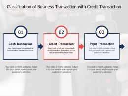 Classification Of Business Transaction With Credit Transaction