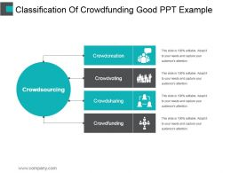 Classification Of Crowdfunding Good Ppt Example