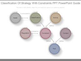 Classification Of Strategy With Constraints Ppt Powerpoint Guide