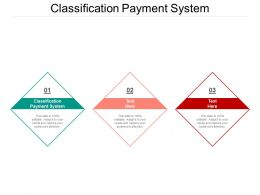 Classification Payment System Ppt Powerpoint Presentation File Clipart Images Cpb