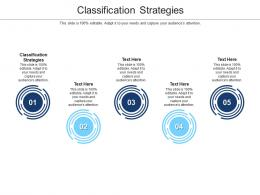 Classification Strategies Ppt Powerpoint Presentation Layouts Layout Ideas Cpb