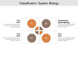 Classification System Biology Ppt Powerpoint Presentation Portfolio Smartart Cpb