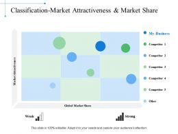Classificationmarket Attractiveness And Market Share Ppt Examples