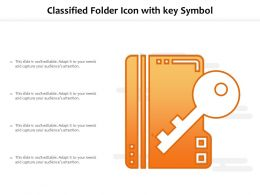 Classified Folder Icon With Key Symbol