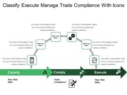 Classify Execute Manage Trade Compliance With Icons