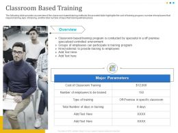 Classroom Based Training Overview Ppt Powerpoint Presentation Visual Aids