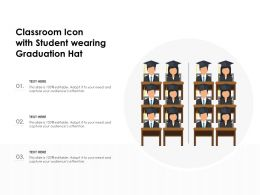 Classroom Icon With Student Wearing Graduation Hat