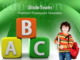 Classroom Powerpoint Templates Abc Blocks Education Business Ppt Slides