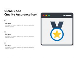 Clean Code Quality Assurance Icon