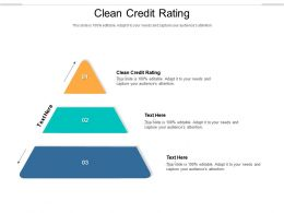 Clean Credit Rating Ppt Powerpoint Presentation Professional Vector Cpb