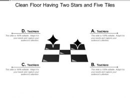 Clean Floor Having Two Stars And Five Tiles