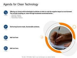 Clean Technology Agenda For Clean Technology Ppt Powerpoint Presentation