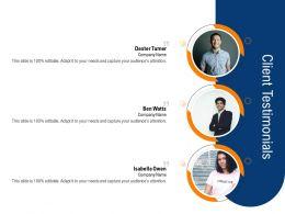 Clean Technology Client Testimonials Ppt Powerpoint Presentation Download