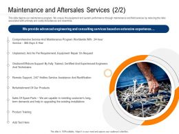 Clean Technology Maintenance And Aftersales Services R752 Ppt Example File