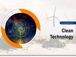 Clean Technology Powerpoint Presentation Slides