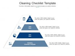 Cleaning Checklist Template Ppt Powerpoint Presentation Model Deck Cpb