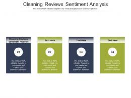 Cleaning Reviews Sentiment Analysis Ppt Powerpoint Presentation Styles Templates Cpb