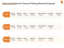 Cleaning Schedule For Pressure Washing Business Proposal Ppt Powerpoint Sides Show