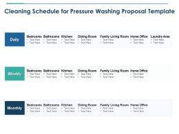 Cleaning Schedule For Pressure Washing Proposal Template Ppt Powerpoint Pictures