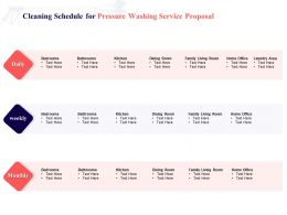 Cleaning Schedule For Pressure Washing Service Proposal Ppt Powerpoint Presentation File