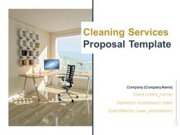 Cleaning Services Proposal Template Powerpoint Presentation Slides