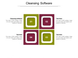 Cleansing Software Ppt Powerpoint Presentation Model Gridlines Cpb