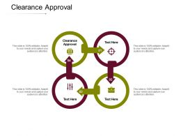 Clearance Approval Ppt Powerpoint Presentation Portfolio Gallery Cpb