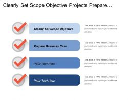 Clearly Set Scope Objective Projects Prepare Business Case