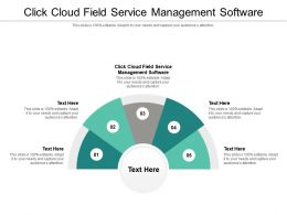 Click Cloud Field Service Management Software Ppt Powerpoint Presentation Show Format Ideas Cpb