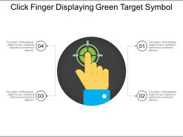 Click Finger Displaying Green Target Symbol