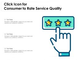 Click Icon For Consumer To Rate Service Quality