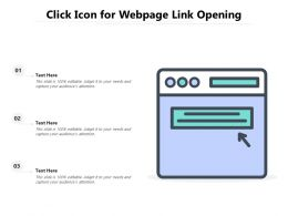 Click Icon For Webpage Link Opening