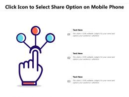 Click Icon To Select Share Option On Mobile Phone