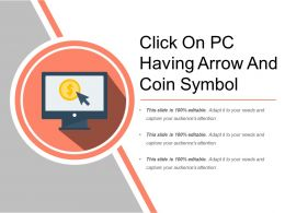 Click On Pc Having Arrow And Coin Symbol