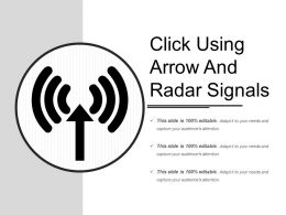 Click Using Arrow And Radar Signals