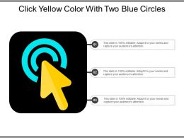 Click Yellow Color With Two Blue Circles