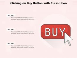 Clicking On Buy Button With Cursor Icon