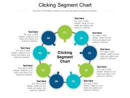 Clicking Segment Chart Ppt Powerpoint Presentation Visual Aids Summary Cpb