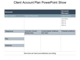 Client Account Plan Powerpoint Show