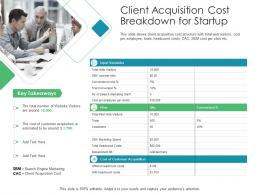 Client Acquisition Cost Breakdown For Startup Client Acquisition Costing For Acquiring Ppt Rules