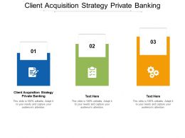Client Acquisition Strategy Private Banking Ppt Powerpoint Presentation Slides Cpb