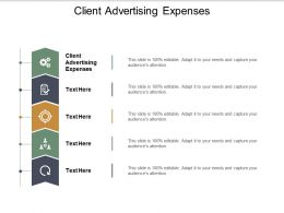Client Advertising Expenses Ppt Powerpoint Presentation Infographics Background Images Cpb