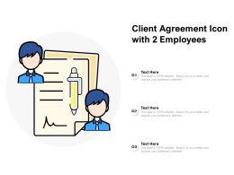 Client Agreement Icon With 2 Employees