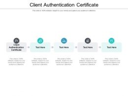 Client Authentication Certificate Ppt Powerpoint Presentation Icon Example Cpb