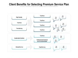 Client Benefits For Selecting Premium Service Plan