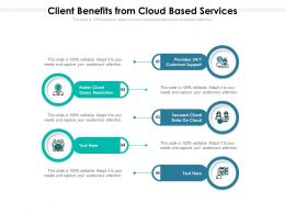 Client Benefits From Cloud Based Services