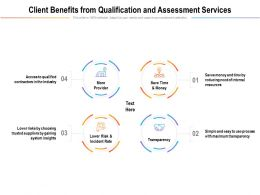 Client Benefits From Qualification And Assessment Services